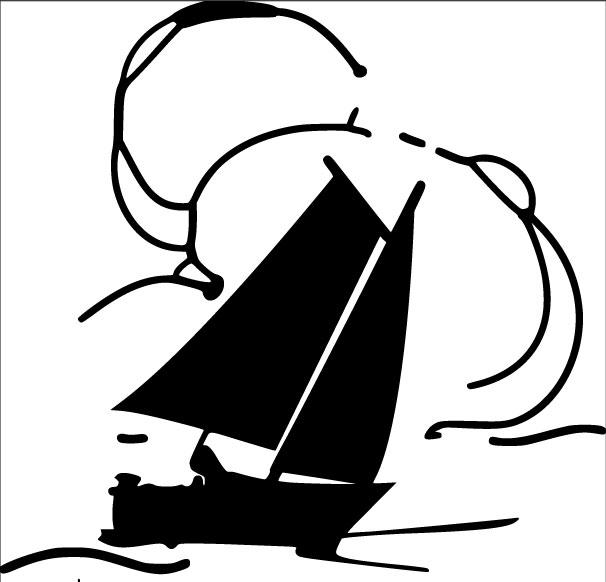 Uudenkaupungin Teatteri laiva ja teksti logo